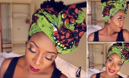 Here is How to Make Beautiful Head Wrap With Your Ankara Material