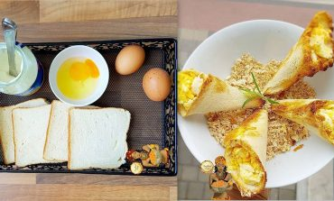 How to Make Egg in Toast Cones