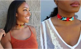 15 Beautiful Ankara Inspired Chokers And How to Make One